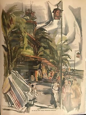Vintage Watercolor Page From A Magazine
