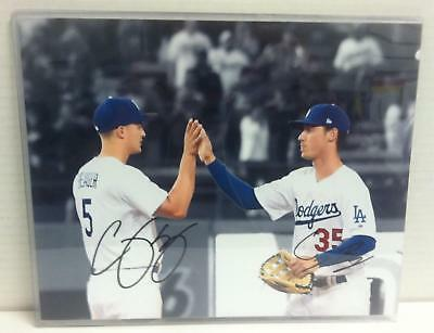 "COREY SEAGER CODY BELLINGER AUTO ""HIGH FIVE"" 8x10 Photo REPRINT #533"