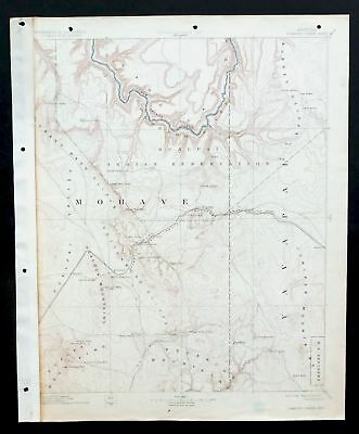 Diamond Creek Arizona Vintage USGS Topographic Map 1892 Grand Canyon NP