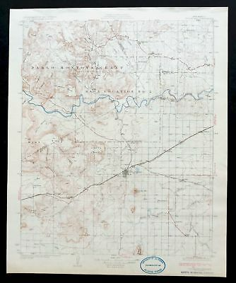 Tucumcari New Mexico Vintage Original 1930 USGS Topographic Map 30-minute Topo