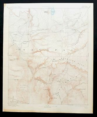 Verde Arizona Rare Antique USGS Topographic Map 1892 Sedona Payson Topo