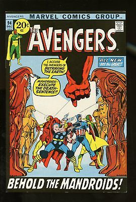 THE AVENGERS #94 VF/ NM 9.0 ADAMS COVER 1971 MARVEL COMICS #stp-70