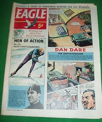 Eagle Comic Xmas Issue 23/12/61 With Super Queens Persian Gulf Broadcast Cutaway