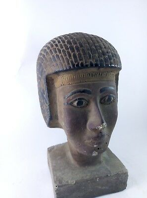 RARE ANCIENT ANTIQUE EGYPTIAN Gods Statue King Seti Ii Head 1200-1194 Bc