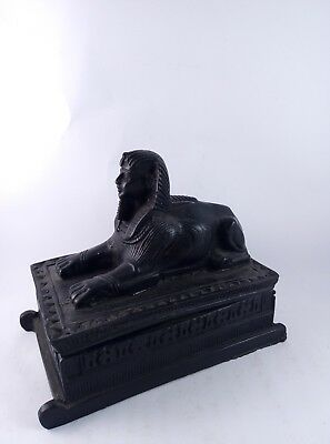 ANCIENT EGYPTIAN ANTIQUE STATUE Pharaoh Sphinx Pyramid Giza Box Figurine Stone