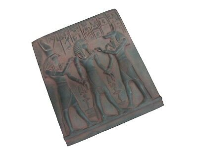 RARE ANCIENT ANTIQUE EGYPTIAN Stela Hours and Anubis and Tutankhamun 2021 Bc
