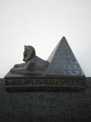 ANCIENT EGYPTIAN ANTIQUE STATUE Pharaoh Egypt SPHINX PYRAMIDS Pyramid 1400 Bc