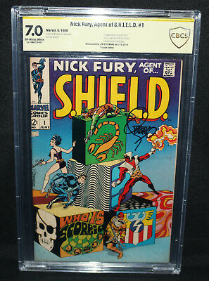 Nick Fury, Agent of S.H.I.E.L.D. #1 - Signed by Jim Steranko - CBCS 7.0 - 1968