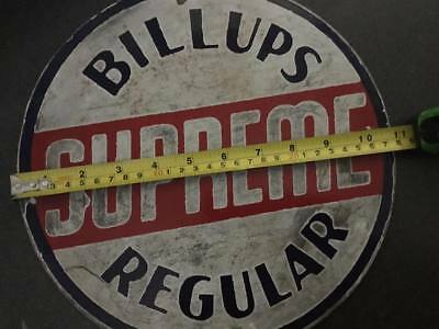 Rare and Authentic Billups Porcelain Gasoline Oil Advertising Sign