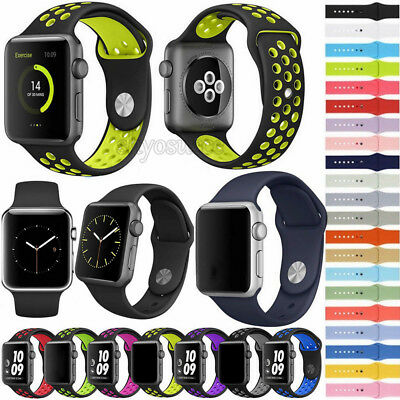 Replacement Silicone Sport Band Strap Bracelet For Apple Watch Series 4 3 2 1