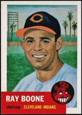 1953 Topps (1991 Archives reprint) #25 Ray Boone, Cleveland Indians