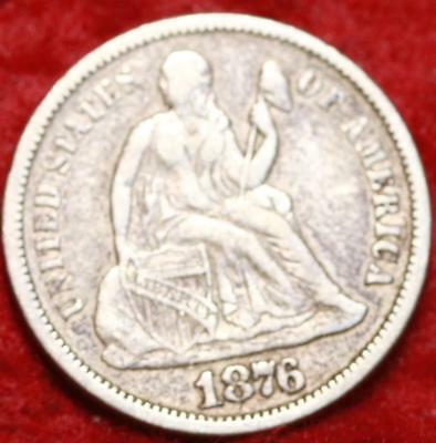 1876-S San Francisco Mint Seated Liberty Dime