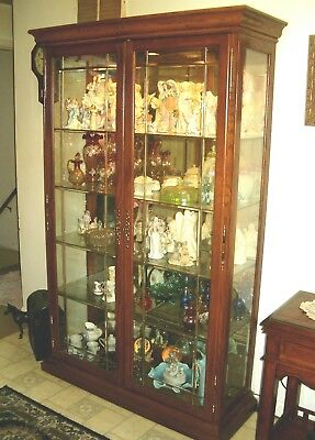 """U PICK-UP ONLY - Curio Cabinet - 6'-5"""" tall x 4'-1"""" wide - NO SHIPPING AVAILABLE"""