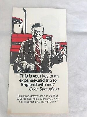 Vintage International Harvester IH  Red Power 60 Series England Trip Promo 4x6