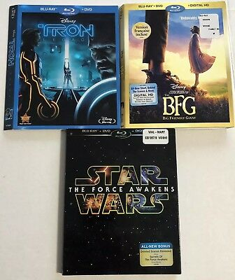 Bluray Slipcovers (Disney, Star Wars, Tron, BFG, NO DISCS) Canadian