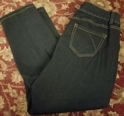 Lane Bryant Tighter Tummy High Rise Straight Blue Jeans Size 14 Short 34 x 28