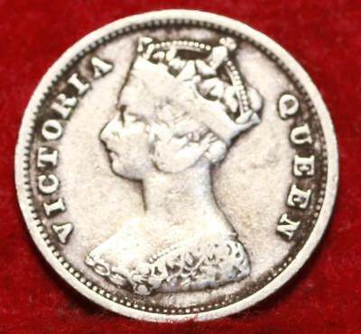 1901 Hong Kong 10 Cents Silver Foreign Coin