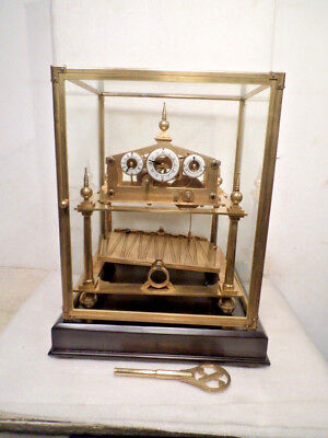 5 Finial Antiue Style William Congreve Rolling Ball Clock-BALL ALWAYS MOVING