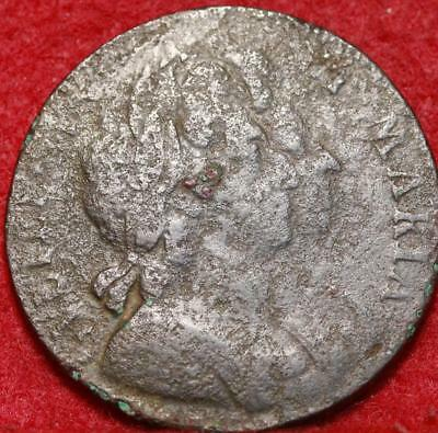 1694 Great Britain 1/2 Penny Foreign Coin