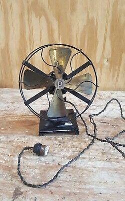 Rare Htf Vintage Antique Pittsburgh Electric Fan All Original