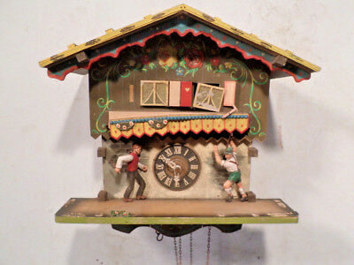Chalet Musical Cuckoo Clock for Parts Or Restoration