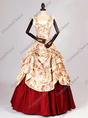Civil War Southern Belle Christmas Scarlett O'Hara Ball Gown Theater Dress 081 M