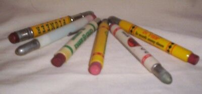 Lot Of Six Vintage Bullet Pencils  Advertising