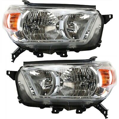 Headlight Set For 2010-2013 Toyota 4Runner Limited SR5 Models Left and Right 2Pc