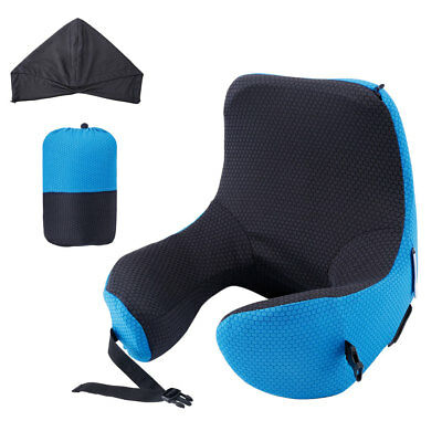 6 in 1 Adjustable Soft Memory Foam Travel Pillow Hood Neck Cushion Car Office