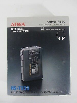 NEW Vintage AIWA HS-T220 FM/AM Super Bass Cassette Player Tuner