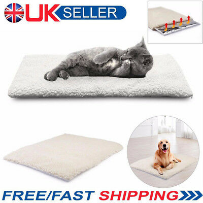 Large Dog Pet Mat Bed Pad Self Heating Warm Cat Rug Thermal Washable Pillow aw1