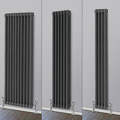 Traditional Column Vertical Vintage Radiator Anthracite Cast Iron Style Rads