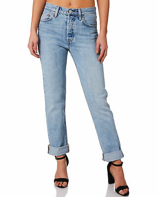 New Levi's Women's Levi`S 501 Jeans For Women Cotton Fitted Blue