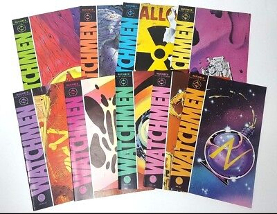 Watchmen Comics Lot by Alan Moore 1 2 3 4 5 6 7 8 9 COMPLETE Run Nite Owl