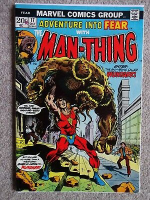 ADVENTURE INTO FEAR WITH THE MAN-THING No. 17 October 1973 (Very Fine-)