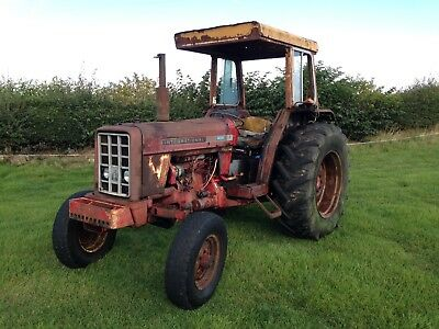 International 674 Tractor. Running And Working. Good Project Vintage Tractor