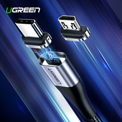 Ugreen Magnetic USB Cable Fast Micro USB Type C Magnet Charge Cable for Samsung