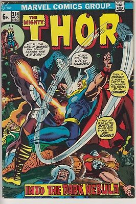 Thor 214 - 1st appearance of Xorr the God-Jewel. Bronze age pence issue