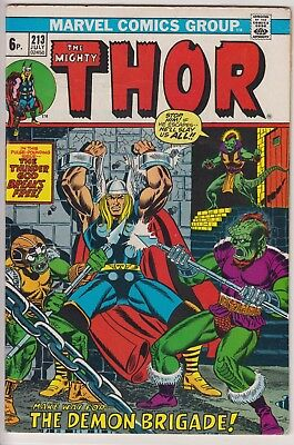 "Thor 213 - ""Make Way for ... The Demon Brigade!"". Bronze age pence issue"