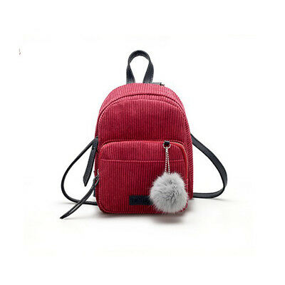 Travel Women Girls Mini Small Corduroy Backpack School Bags Handbag Shoulder Bag