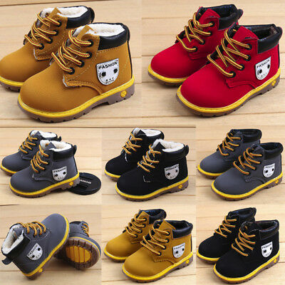 Baby Children Warm Boys Girls Sneaker Snow Boots Leather Shoes