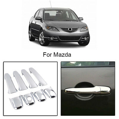 Chrome Door Handle Trim Covers Set For Mazda 2 3 5 6 CX7 CX9 RX8 Lincoln