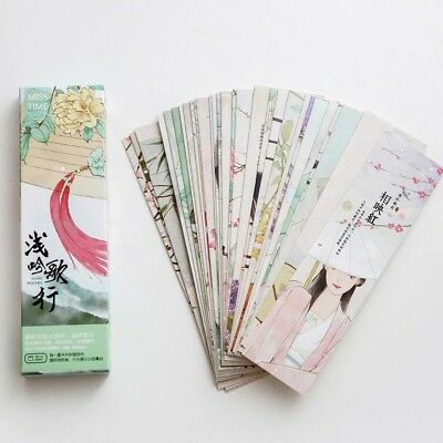 30pc/Box Chinese Style Bookmark Book Mark Magazine Note Label Memo School