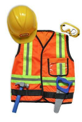 NEW Kiddie Connect Construction Worker Costume w/ Hard Hat - Childrens Dress UP