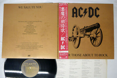 AC/DC FOR THOSE ABOUT TO ROCK WE SALUTE YOU ATLANTIC P-11068A Japan OBI VINYL LP