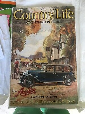 vintage country life magazine Motor Exhibition Number 1933