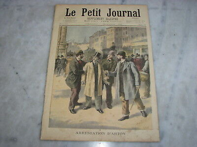 *** Petit Journal n° 263 - 01/12/1895 - Arrestation Arton