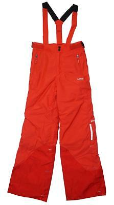 Boys Salopette Padded Ski Dungarees RED Snowboard Trousers 10 to 14 Years
