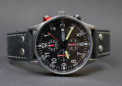 Astroavia Xl Air Craft Nr.9L-1 Military Chronograph Fliegeruhr Spezial Edition