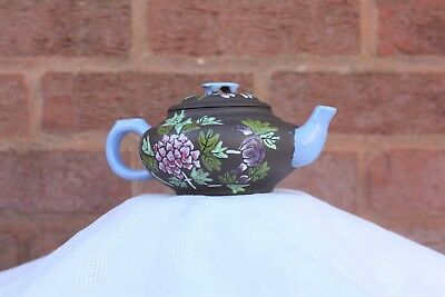 Late 19th Century Chinese Enamelled Yixing Teapot